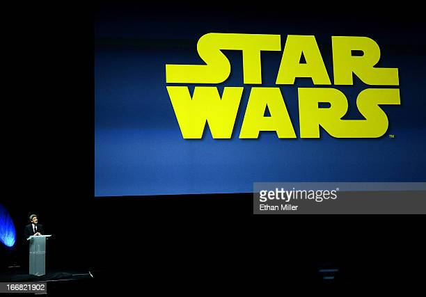Walt Disney Studios Chairman Alan Horn talks about the company taking over the 'Star Wars' movie franchise at a Walt Disney Studios Motion Pictures...