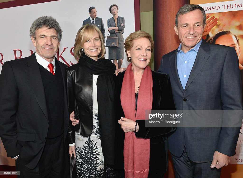 Walt Disney Studios chairman Alan Horn, Willow Bay, actress Julie Andrews and Chairman and Chief Executive Officer of the Walt Disney Company Bob Iger attend the U.S. Premiere Of Disney's 'Saving Mr. Banks' at Walt Disney Studios on December 9, 2013 in Burbank, California.