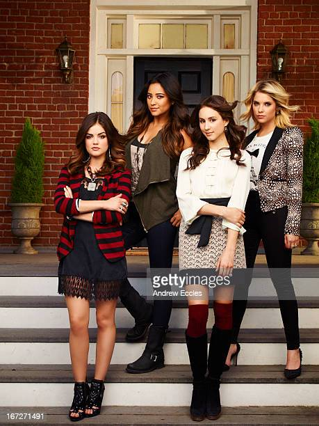 Family Family's 'Pretty Little Liars' stars Lucy Hale as Aria Montgomery Shay Mitchell as Emily Fields Troian Bellisario as Spencer Hastings and...