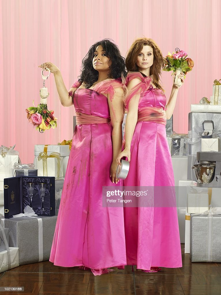 Family's 'Revenge of the Bridesmaids' stars Raven-Symone as Abigail and Joanna Garcia as Parker.