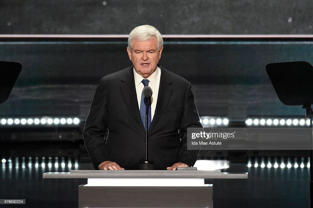 ABC NEWS - 7/20/16 - Coverage of the 2016 Republican National Convention from the Quicken Loans Arena in Cleveland, Ohio, which airs on all ABC News programs and platforms. (Photo by Ida Mae Astute/ABC via Getty Images) NEWT