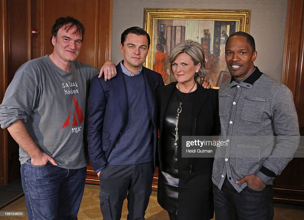 News' Cynthia McFadden talks to Quentin Tarantino, Leonardo DiCaprio and Jamie Foxx, of 'Django Unchained, ' in an interview airing TUESDAY, JANUARY 8 on NIGHTLINE (12:35, ET) and all ABC News programs and platforms.. QUENTIN