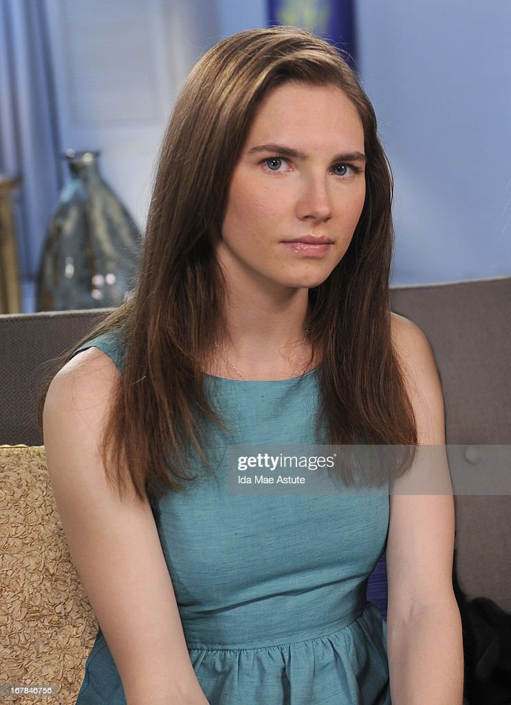 ABC NEWS - EXCLUSIVE - <a gi-track='captionPersonalityLinkClicked' href=/galleries/search?phrase=Amanda+Knox&family=editorial&specificpeople=4681704 ng-click='$event.stopPropagation()'>Amanda Knox</a> - the college junior who became the center of a dramatic murder trial in Italy, conviction and the court appeal that finally acquitted and freed her - speaks to Diane Sawyer during an exclusive interview airing on TUESDAY, APRIL 30 (10-11pm, ET) on the ABC Television Network as well as all ABC News programs and platforms. (Photo by Ida Mae Astute/ABC via Getty Images)AMANDA