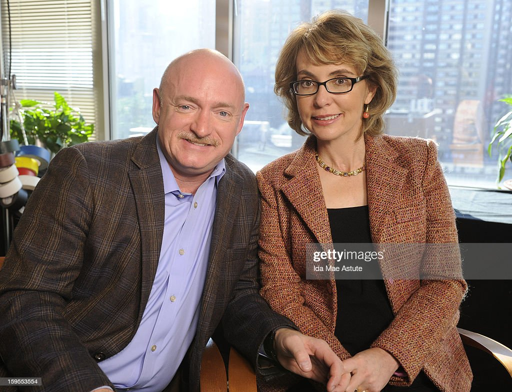 ABC NEWS - Former Congresswoman Gabrielle Giffords who was critically injured two years ago when a gunman opened fire in Tucson, AZ, and her husband, astronaut Mark Kelly talk to Diane Sawyer about the need for changes in gun control laws and greater awareness of mental health issues. The interview will air on all ABC News programs and platforms on TUESDAY, JAN. 8th. (Photo by Ida Mae Astute/ABC via Getty Images) MARK