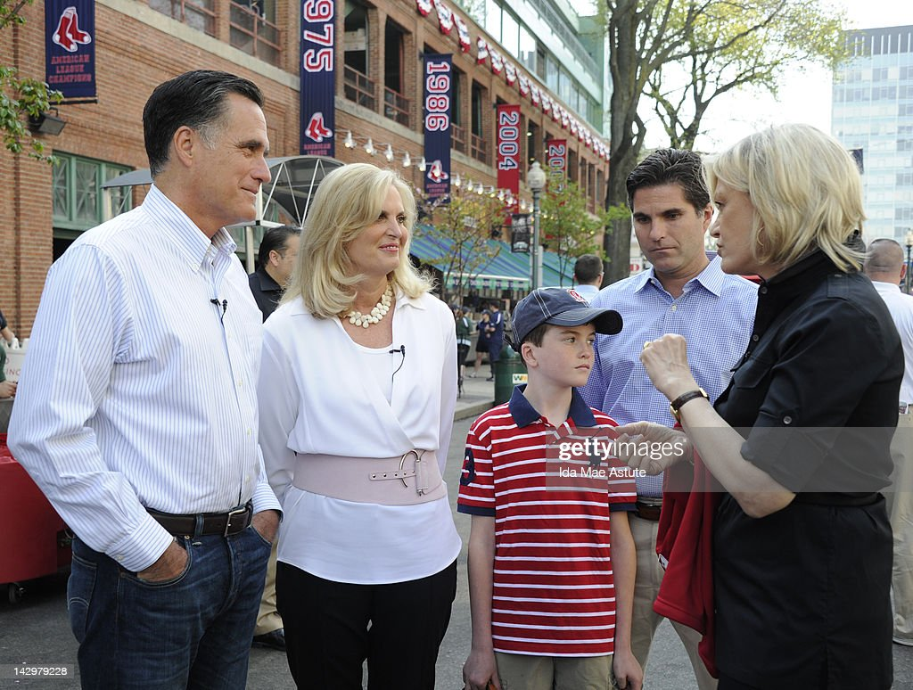 ABC NEWS - In a Diane Sawyer exclusive, Governor Mitt Romney and his wife Ann sit down for their first joint network interview. The exclusive network interview will take place at Fenway Park and will air Monday, April 16 first on 'World News with Diane Sawyer' with the extended interview airing on 'Nightline.' 'ABC World News with Diane Sawyer' airs nationally at 6:30pm/ET on the ABC Television Network and in Boston, Massachusetts on Channel 5 (WCVB-TV) at 6:30pm/ET and on New Hampshire's WMUR