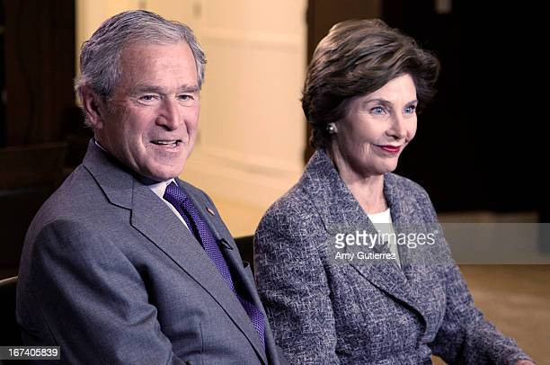 ABC NEWS The 43rd President of the United States George W Bush and former First Lady Laura Bush will speak first to 'ABC World News' anchor Diane...
