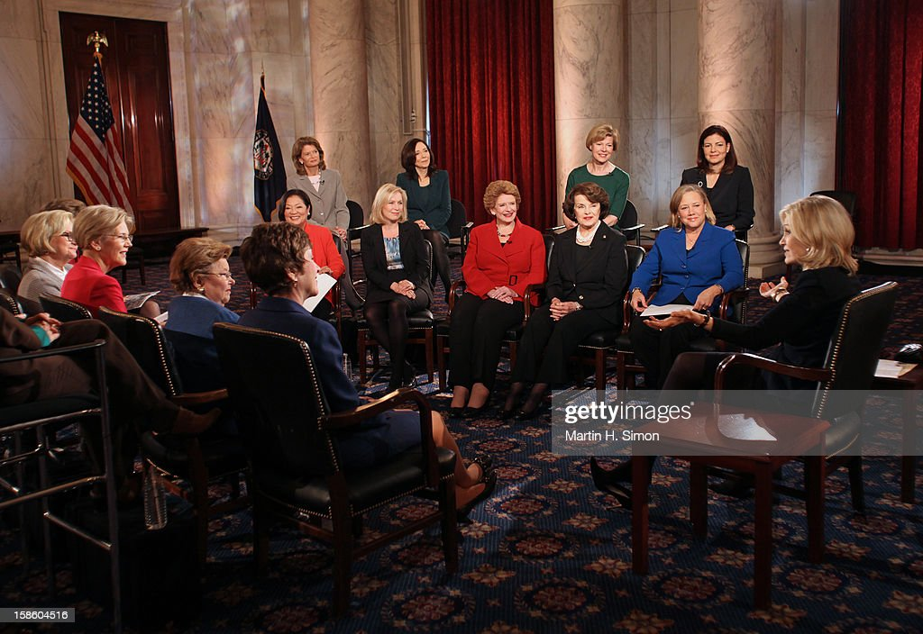 "SAWYER - When the 113th Congress is sworn in on January 3, it will have a record-breaking number of female senators — the most in history. 'ABC World News' anchor Diane Sawyer gathered nearly all the women for an exclusive conversation in the historic Kennedy Caucus Room. The extended interview will air January 3, 2013, the first day of the new Congressional term, on 'WorldNews with Diane Sawyer"" and ""Nightline "" on the ABC Television Network. CLAIRE"