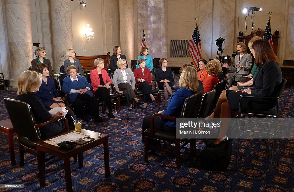 "SAWYER - When the 113th Congress is sworn in on January 3, it will have a record-breaking number of female senators — the most in history. 'ABC World News' anchor Diane Sawyer gathered nearly all the women for an exclusive conversation in the historic Kennedy Caucus Room. The extended interview will air January 3, 2013, the first day of the new Congressional term, on 'WorldNews with Diane Sawyer"" and ""Nightline "" on the ABC Television Network. SUSAN"