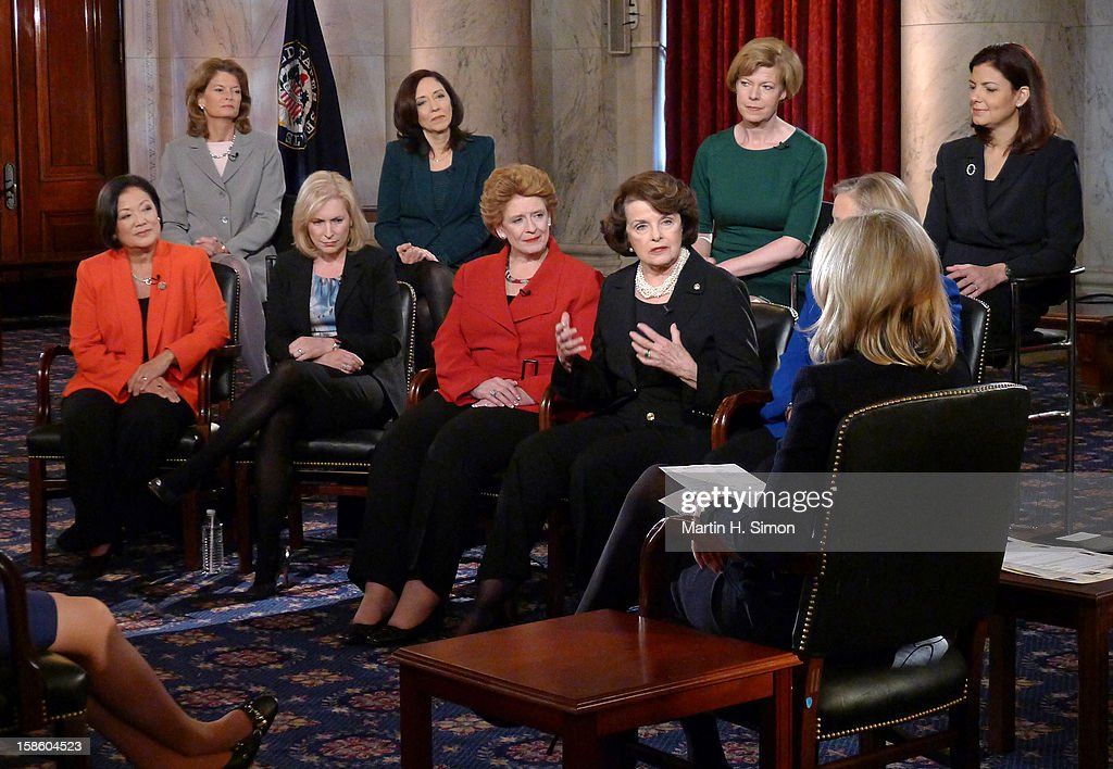"SAWYER - When the 113th Congress is sworn in on January 3, it will have a record-breaking number of female senators — the most in history. 'ABC World News' anchor Diane Sawyer gathered nearly all the women for an exclusive conversation in the historic Kennedy Caucus Room. The extended interview will air January 3, 2013, the first day of the new Congressional term, on 'WorldNews with Diane Sawyer"" and ""Nightline "" on the ABC Television Network. SEN. MAZIE"