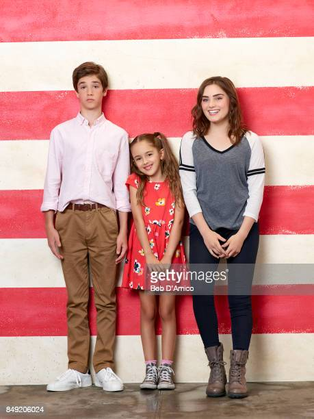 HOUSEWIFE ABC's 'American Housewife' stars Daniel DiMaggio as Oliver Otto Julia Butters as AnnaKat Otto and Meg Donnelly as Taylor Otto