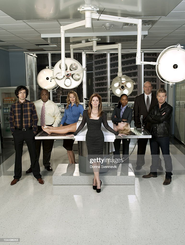 PROOF - ABC's 'Body of Proof' stars Geoffrey Arend as Dr. Ethan Gross, Windell D. Middlebrooks as Dr. Curtis Brumfield, Jeri Ryan as Dr. Kate Murphy, Dana Delany stars as Dr. Megan Hunt, Sonja Sohn as Detective Samantha Baker, John Carroll Lynch as Detective Bud Morris and Nicholas Bishop as Peter Dunlop.