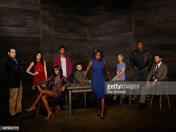 MURDER ABC's 'How to Get Away with Murder' stars Matt McGorry as Asher Millstone Karla Souza as Laurel Castillo Aja Naomi King as Michaela Pratt...