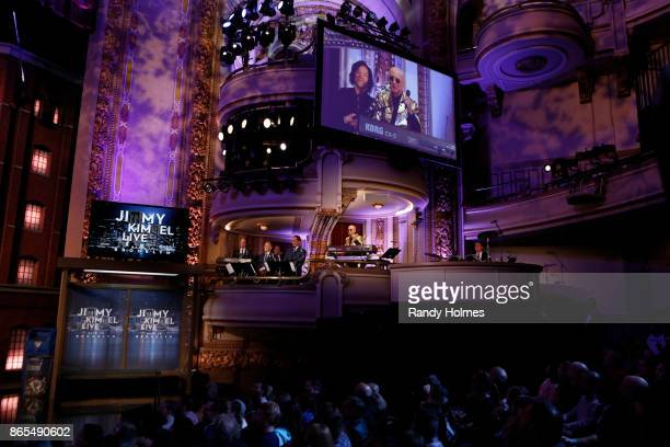 LIVE ABC's 'Jimmy Kimmel Live' returns to Brooklyn New York for five original shows The guests for Thursday October 19 included panelist and musical...