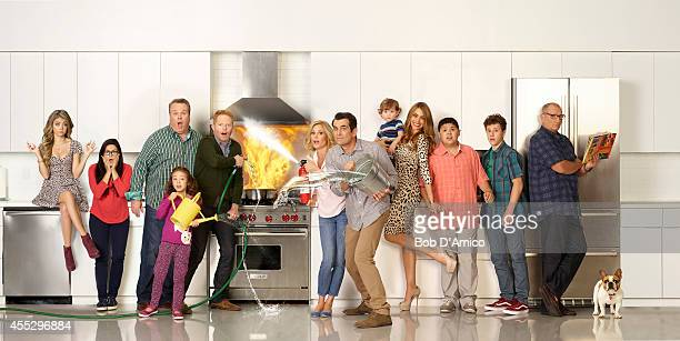 FAMILY ABC's 'Modern Family' stars Sarah Hyland as Haley Ariel Winter as Alex Eric Stonestreet as Cameron Aubrey AndersonEmmons as Lily Jesse Tyler...