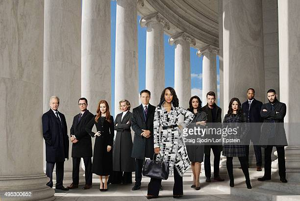 SCANDAL ABC's 'Scandal' stars Jeff Perry as Cyrus Beene Joshua Malina as David Rosen Darby Stanchfield as Abby Whelan Portia de Rossi as Elizabeth...