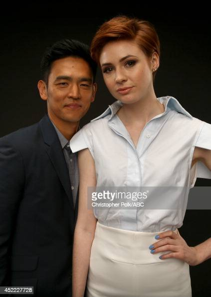 ABC's 'Selfie' actors John Cho and Karen Gillan pose for a portrait during ABC's 2014 TCA summer press tour at The Beverly Hilton Hotel on July 15...