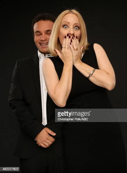 ABC's 'The Goldbergs' actors Troy Gentile and Wendi McLendonCovey pose for a portrait during ABC's 2014 TCA summer press tour at The Beverly Hilton...