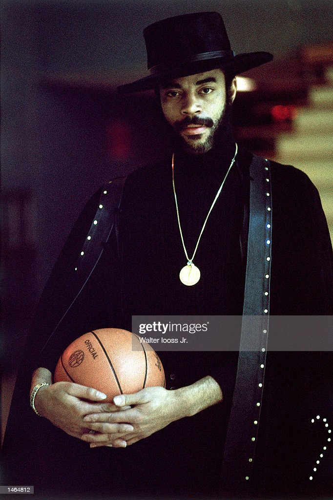 Walt Frazier of the New York Knicks poses for a portrait at Madison Square Garden in New York, NY.