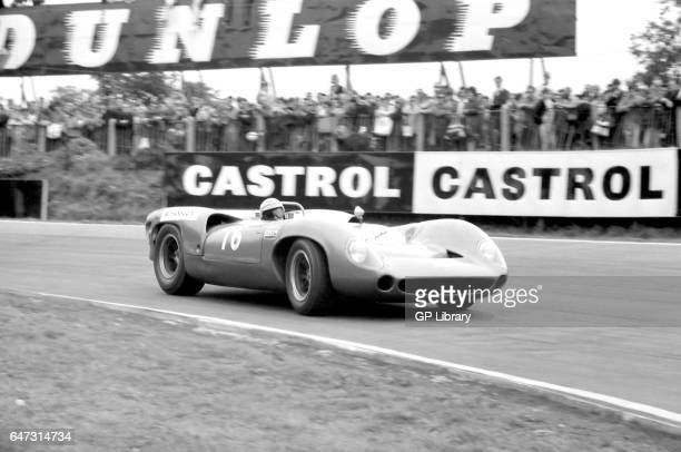 Walt Hansgen in the Guards Trophy mecom lola t70 spyder at Brands Hatch 1965