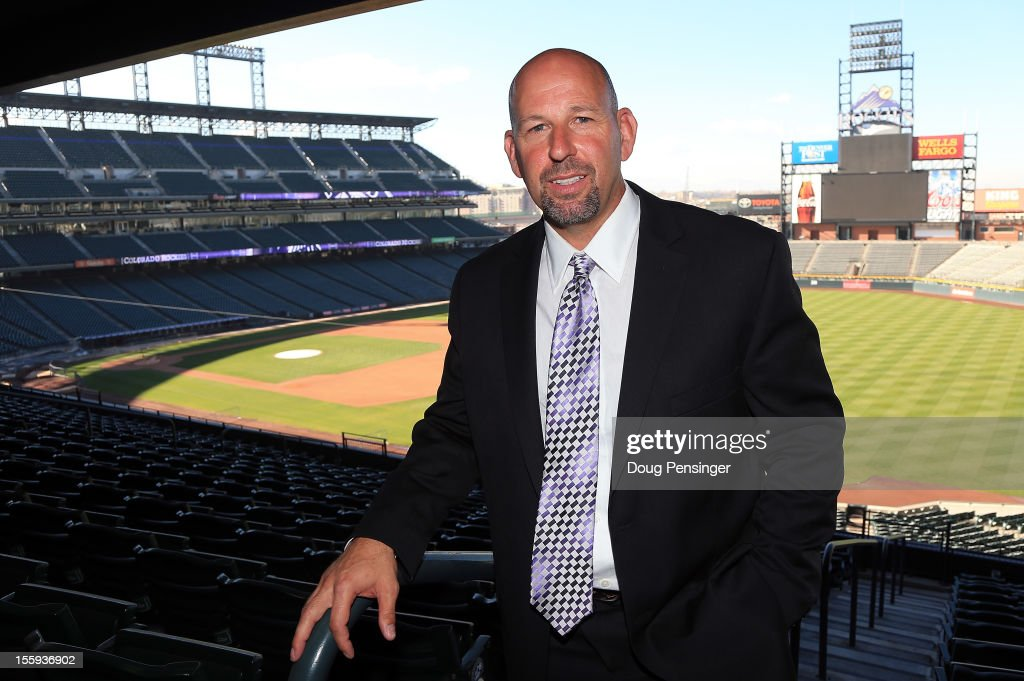 <a gi-track='captionPersonalityLinkClicked' href=/galleries/search?phrase=Walt+Weiss&family=editorial&specificpeople=239045 ng-click='$event.stopPropagation()'>Walt Weiss</a> poses for a photo as he was named the manager of the Colorado Rockies during a press conference at Coors Field on November 9, 2012 in Denver, Colorado.