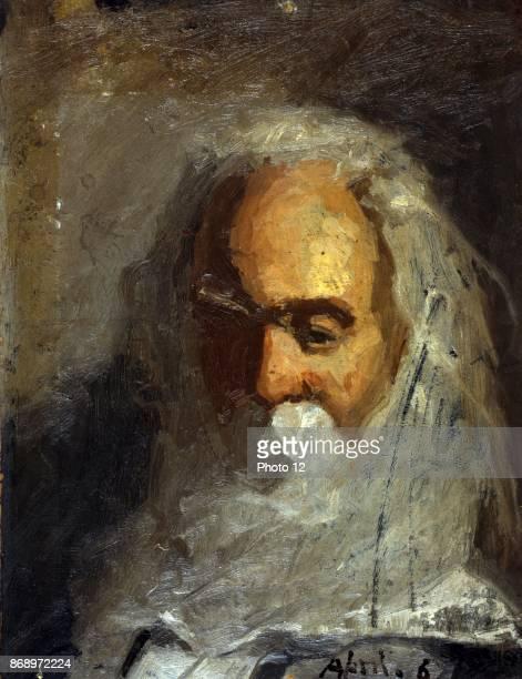 Walt Whitman head and shoulders portrait Artist Percy Ives April 6 1882