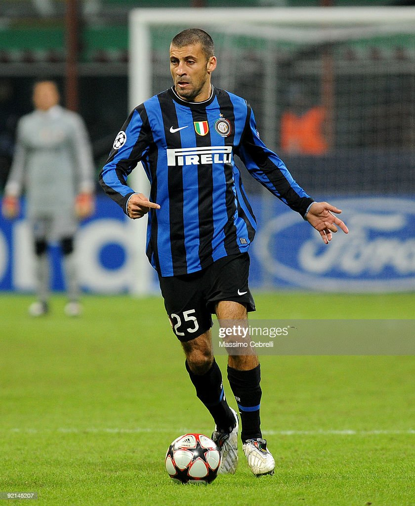 inter milan v dynamo kiev uefa champions league photos and walter adrian samuel of fc inter milan in actionduring the uefa champions league matchday 3 group