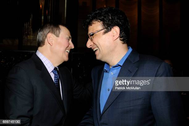 Walter Anderson and David Remnick attend PARADE MAGAZINE and SI Newhouse Jr honor Walter Anderson at The 4 Seasons Grill Room on March 31 2009 in New...