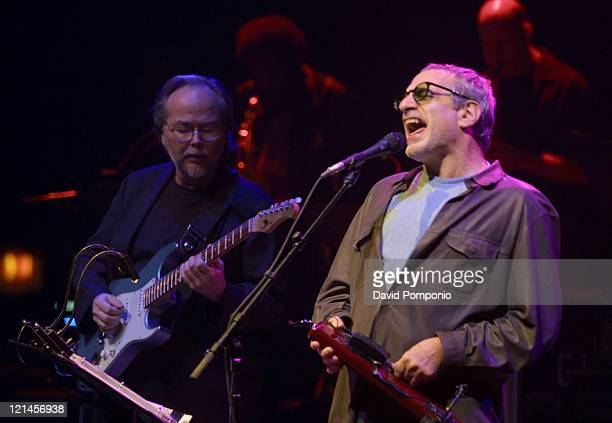 Walter Becker and Donald Fagen of Steely Dan during Steely Dan Live At Roseland Ballroom September 12 2003 at Roseland Ballroom in New York City New...
