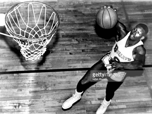 Walter Bellamy of the Baltimore Bullets poses for a mock action portrait in Baltimore Maryland NOTE TO USER User expressly acknowledges and agrees...