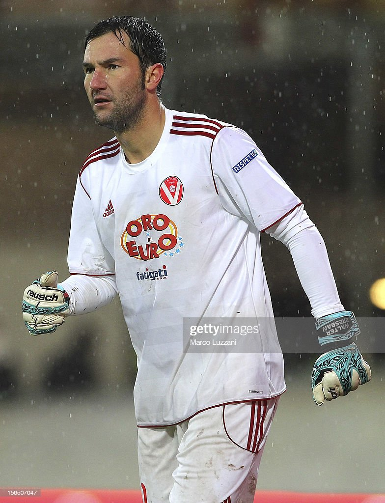 Walter Bressan of AS Varese looks on during the Serie B match between AS Varese and Calcio Padova at Stadio Franco Ossola on November 10, 2012 in Varese, Italy.