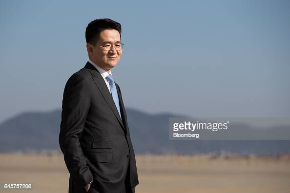 Walter Cho president of Korean Air Lines Co poses for a photograph at Incheon International Airport in Incheon South Korea on Monday Feb 27 2017...