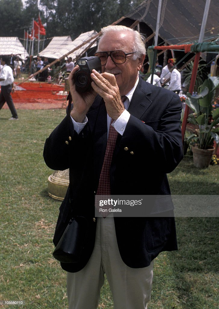 Walter Cronkite during Malcolm Forbes' 70th Birthday Party, 1989 at Tangier Country Club in Tangier, Morocco.