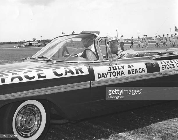 Walter Cronkite one of the greatest newscasters of all time for whom the term news 'anchor' was created drove the pace car in the 1st annual...
