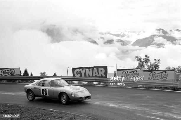 Walter Egger driving a Rene Bonnet Djet at OllonVillars Hillclimb 46th