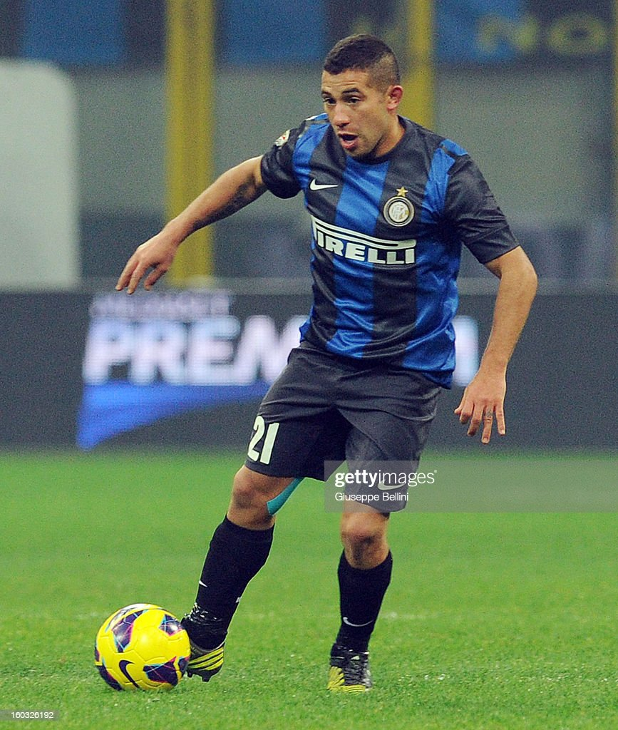 Walter Gargano of Inter in action during the Serie A match between FC Internazionale Milano and Torino FC at San Siro Stadium on January 27, 2013 in Milan, Italy.