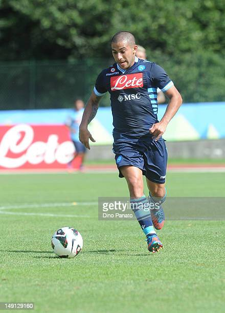Walter Gargano of Napoli in action during the preseason friendly match between SSC Napoli and US Grosseto on July 23 2012 in Dimaro near Trento Italy