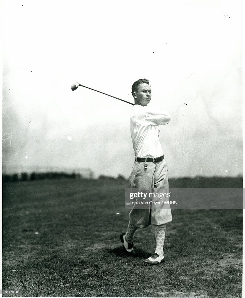 Walter Hagan on the fairway during a round at a local Cleveland course