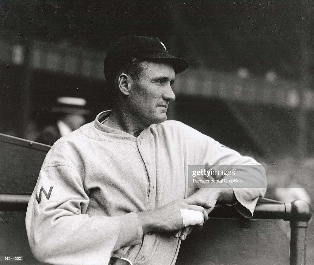 WASHINGTON 1924 Walter Johnson poses for a photographer in Washington before a game in 1924