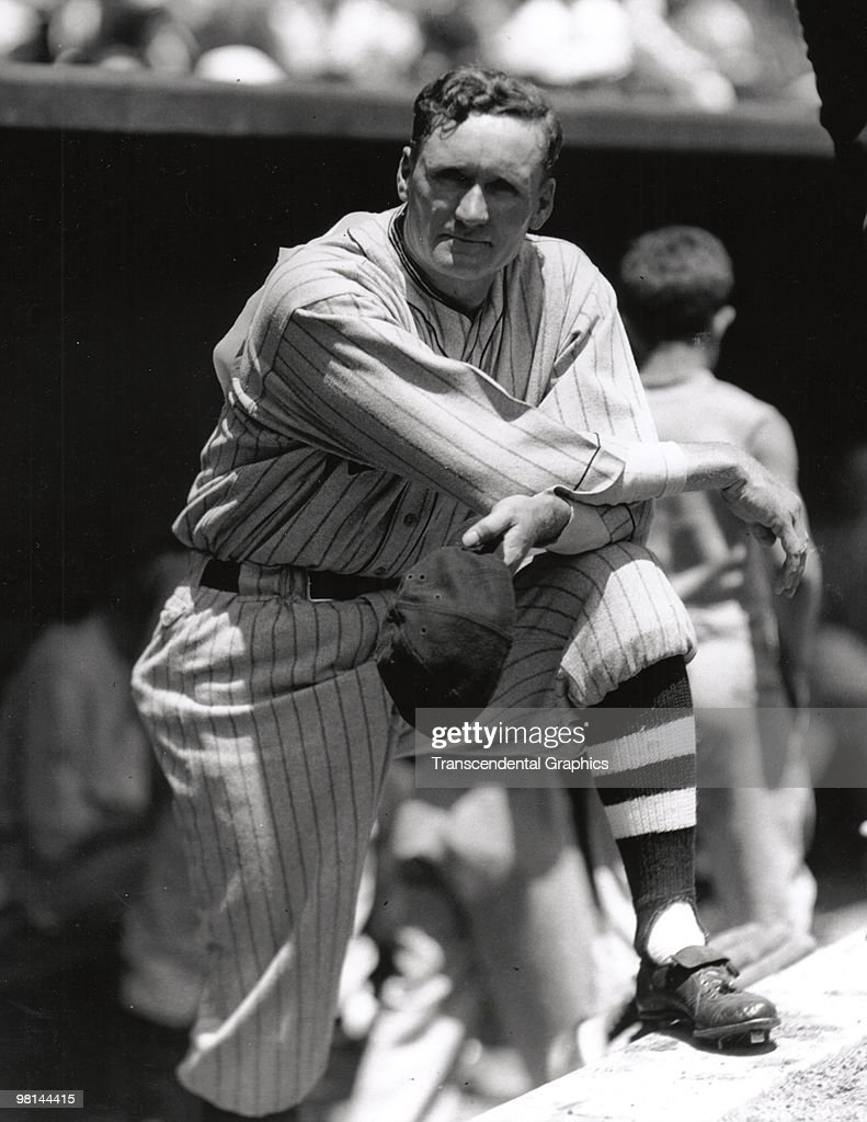 WASHINGTON 1924 Walter Johnson poses for a photographer on the dugout steps for a portrait in Washington before a game in 1924