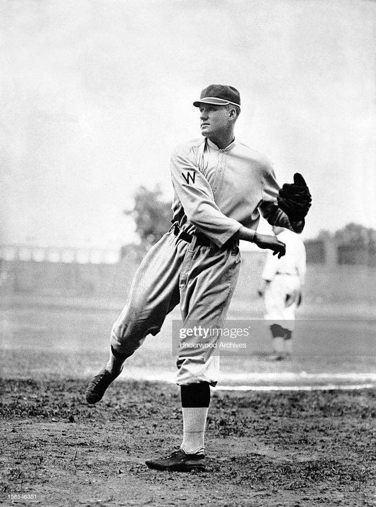 Walter Johnson star pitcher for the Washington Senators Washington DC circa 1914