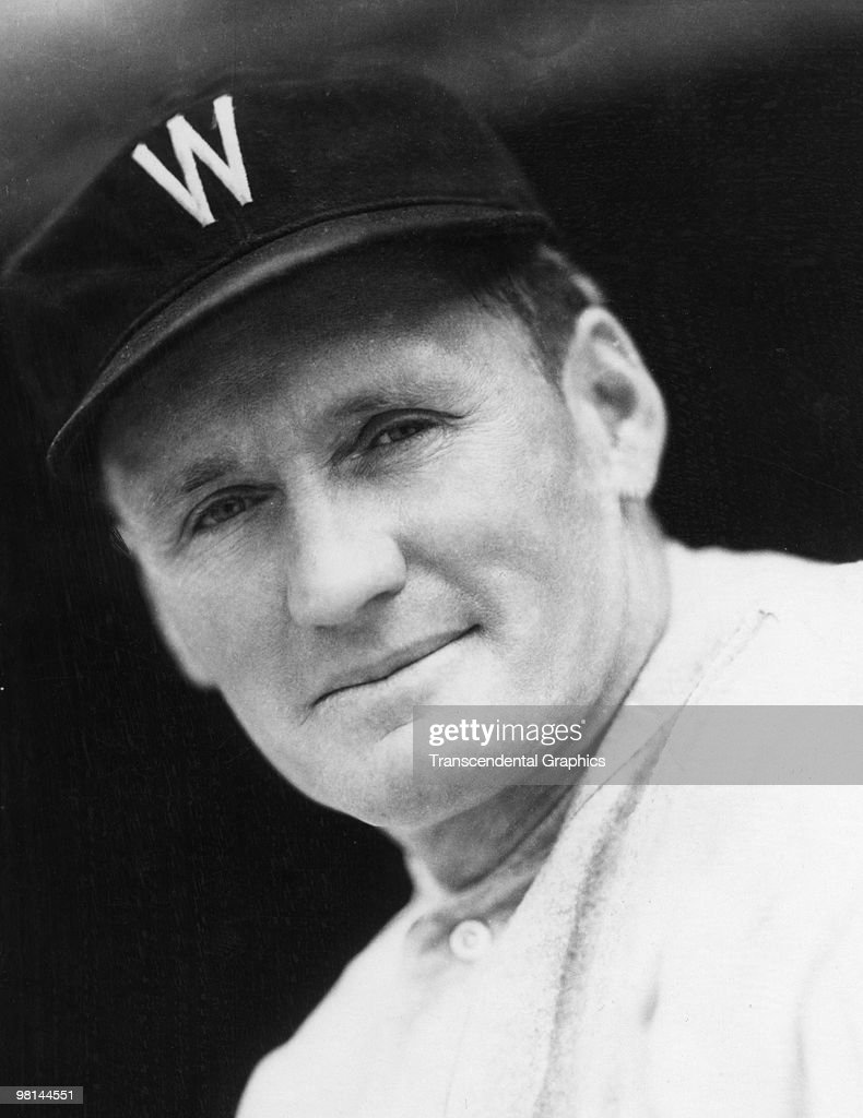 WASHINGTON 1924 Walter Johnson stops for a photo to be taken in Washington before a game in 1924