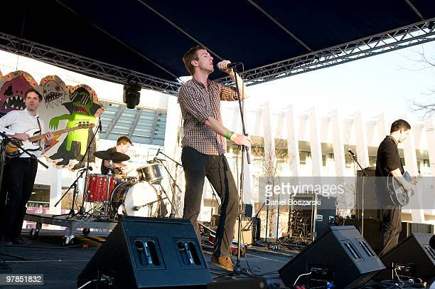 Walter Martin Matt Barrick Hamilton Leithauser and Paul Maroon of The Walkmen perform at Carniville during the second day of SXSW on March 18 2010 in...