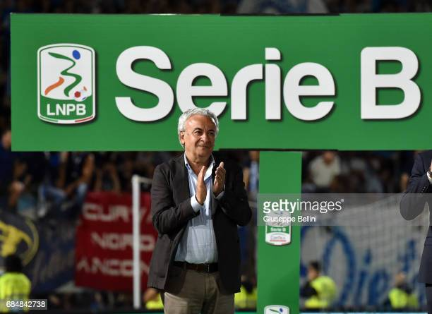 Walter Mattioli President of SPAL after the Serie B match between SPAL and FC Bari at Stadio Paolo Mazza on May 18 2017 in Ferrara Italy