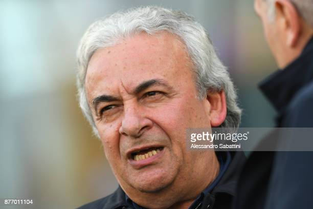 Walter Mattioli president of Spal looks on during the Serie A match between Spal and ACF Fiorentina at Stadio Paolo Mazza on November 19 2017 in...