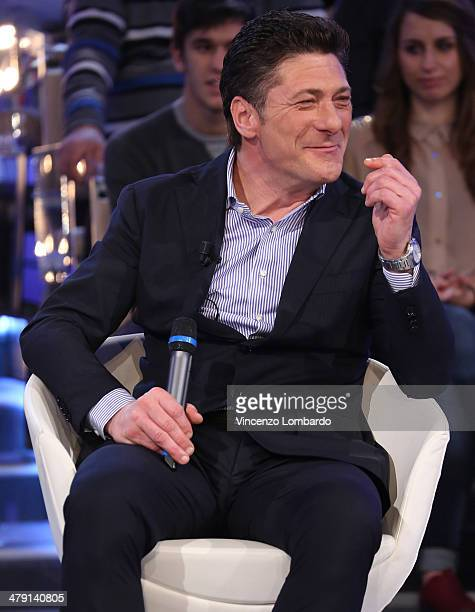 Walter Mazzarri attends at 'Quelli Che Il Calcio' TV Show on March 16 2014 in Milan Italy