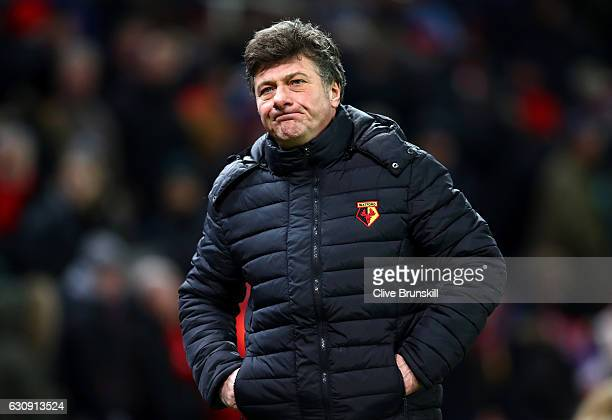 Walter Mazzarri Manager of Watford leaves the pitch after the Premier League match between Stoke City and Watford at Bet365 Stadium on January 3 2017...