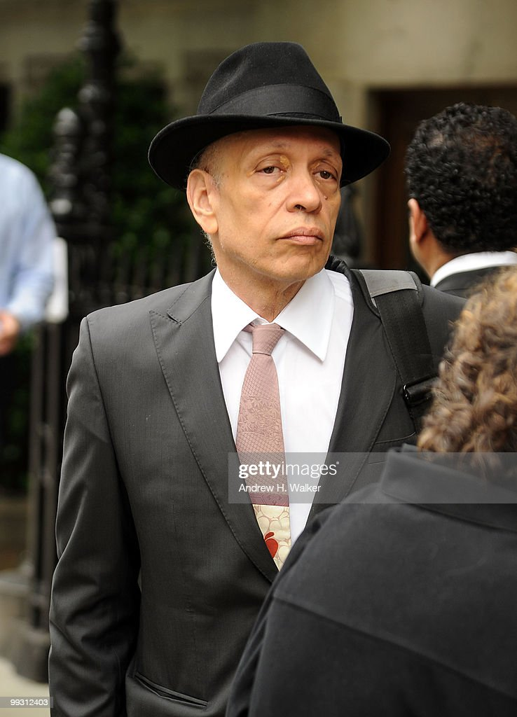 Walter Mosely attends funeral services for entertainer Lena Horne at St. Ignatius Loyola Church on May 14, 2010 in New York City.