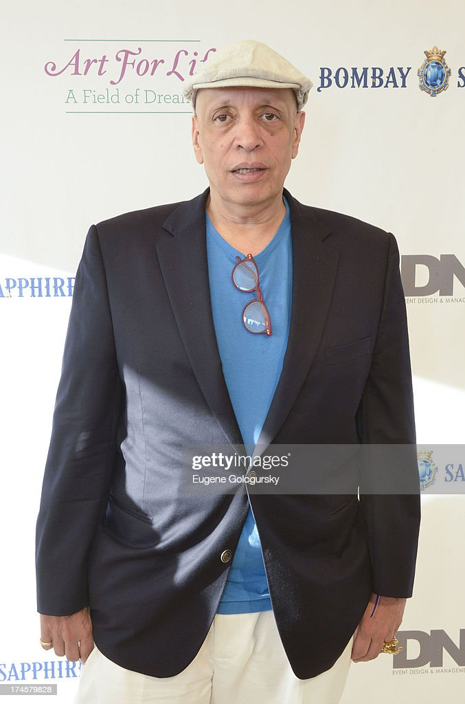 <a gi-track='captionPersonalityLinkClicked' href=/galleries/search?phrase=Walter+Mosley&family=editorial&specificpeople=721900 ng-click='$event.stopPropagation()'>Walter Mosley</a> attends the Russell Simmons 14th Annual Art For Life Benefit Sponsored By BOMBAY SAPPHIRE Gin at Fairview Farms on July 27, 2013 in Bridgehampton, New York.