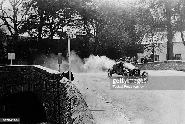 Walter Owen WO Bentley drives the Doriot Flandrin Parant DFP 12/40 Sport over Quarter Bridge during the Royal Automobile Club Isle of Man Tourist...