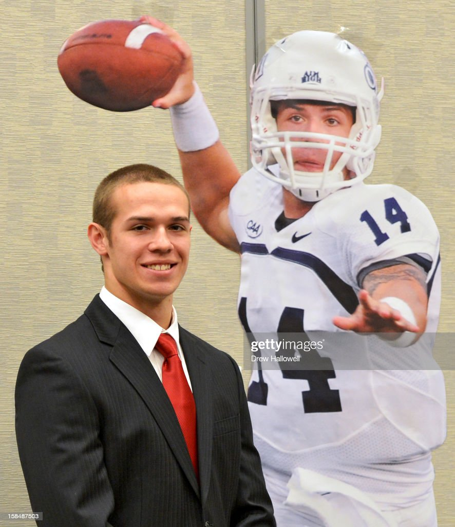 Walter Paton Award winner Taylor Heinicke of Old Dominion University poses for a photograph during the Sports Network's 26th Annual FCS Awards Presentation at the Sheraton Society Hill on December 17, 2012 in Philadelphia, Pennsylvania.